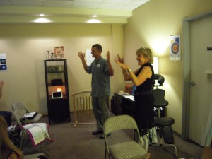 Bo and Marla demonstrating energy applause