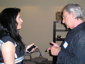 Gina and Alan networking