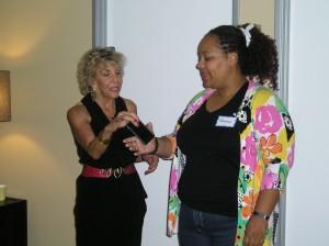Marla Brucker demonstrating some powerful energy techniques.