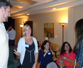 Socializing: Allan, Sandy, Laura & Ashley